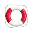 lifebuoy isolated on a white background realistic vector image