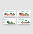 little kids visit contact zoo landing page vector image