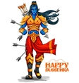 Lord Rama with arrow in Dussehra Navratri festival vector image vector image