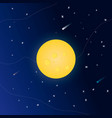 night background with moon and shining stars vector image