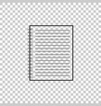 notebook icon isolated on transparent background vector image vector image
