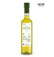 organic extra virgin olive oil glass bottle vector image vector image