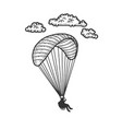 paragliding sketch vector image