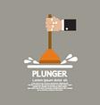 Plunger In Mans Hand Graphic