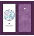 purple and blue floral abstract vertical vector image