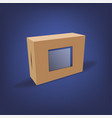 realistic cardboard package box vector image vector image