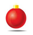 red christmas ball 01 vector image vector image