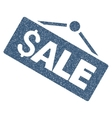Sale Signboard Grainy Texture Icon vector image vector image