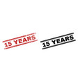 scratched textured and clean 15 years stamp prints vector image vector image