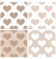 Seamless full of love background set with hearts vector image