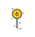 six batsman short cricket icon design vector image