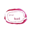 Sketch style speech bubble on bright pink spot vector image vector image