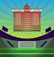 Soccer Match Statistics above Gamefield vector image vector image