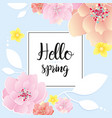 spring greeting card hello vector image vector image