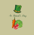 st patricks day food corned beef and cabbage vector image vector image