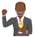 successful mature african american businessman vector image vector image