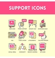Technical support and service icon set vector image