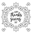Trendy Happy Thanksgiving Day card Autumn frame vector image