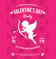 valentines day party invitation or poster design vector image vector image