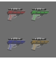 Video game weapon Pistols set vector image vector image
