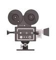 vintage movie camera vector image vector image