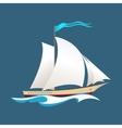 Yacht at Sea vector image vector image