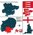 Essex East of England vector image