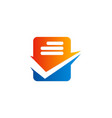 check list data office business logo vector image