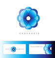 Blue flower corporate logo vector image