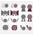 No parking sign icons set vector image