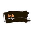 ink grunge banner vector image