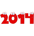 2014 New Year Numbers vector image vector image