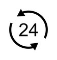24 hour service icon vector image
