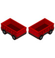 3d design for red wagons vector image vector image