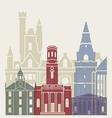 Aberdeen skyline poster vector image vector image