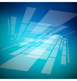 Abstract Blue Background with Transparent Shapes vector image vector image