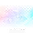 Abstract geometric shape from gray triangle vector image