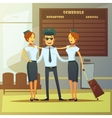 Airlines Cartoon vector image vector image