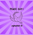 bird with leaf flying silhouette hand drawn sketch vector image vector image
