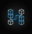 blockchain creative line icon concept vector image vector image