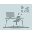 Business office interior with table chair vector image