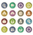 Business simple icons vector image