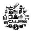 buying in store icons set simple style vector image vector image