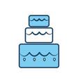 cake three floors vector image vector image