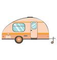 camper trailer design vector image vector image