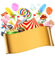 circus paper placard vector image