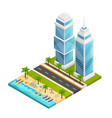 city and beach concept vector image vector image