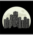 city moon vector image vector image