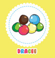 colorful dragee on white background icon of vector image