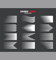 comic speed motion lines collection vector image